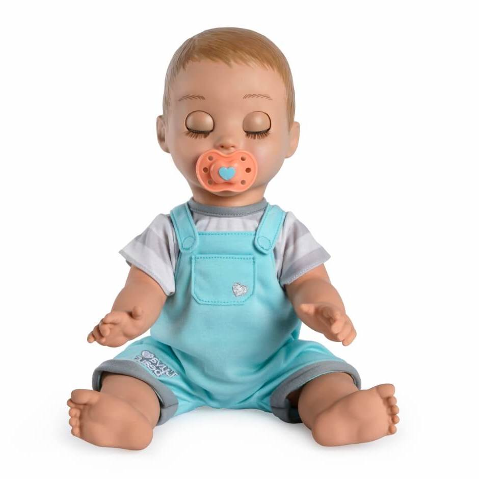 boy doll with pacifier