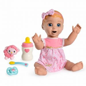 luvabella doll blonde hair with bottle spoon lamby pacifier