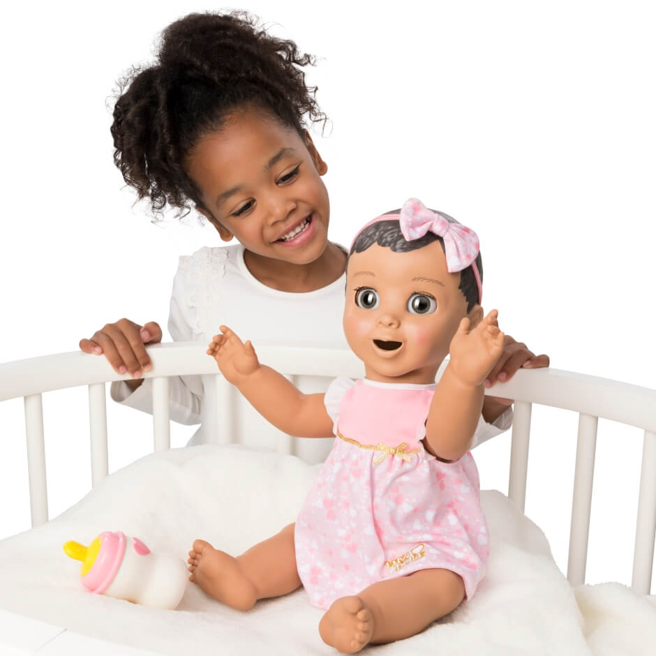 playing with luvabella doll